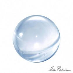 BALLE ACRYL 100 mm  (Cristal)